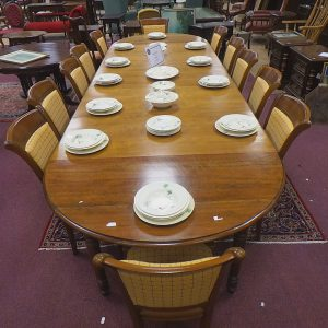 Extending Dining Table and Twelve Chairs