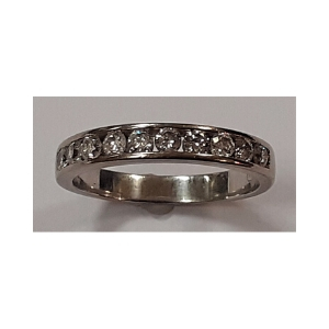 18ct Diamond Half Eternity Ring 1/2ct