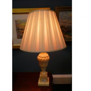 Table Lamp with Alabaster Base