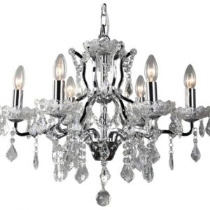 Toledo Crystal Chandelier, 6 lights