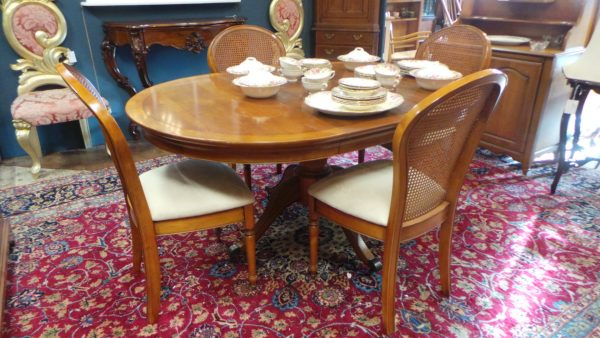 dining table, four chairs