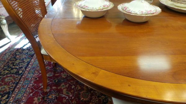 dining table, four chairs, top of table