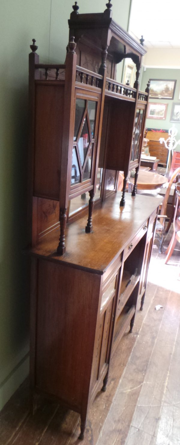 edwardian display cabinet, side view