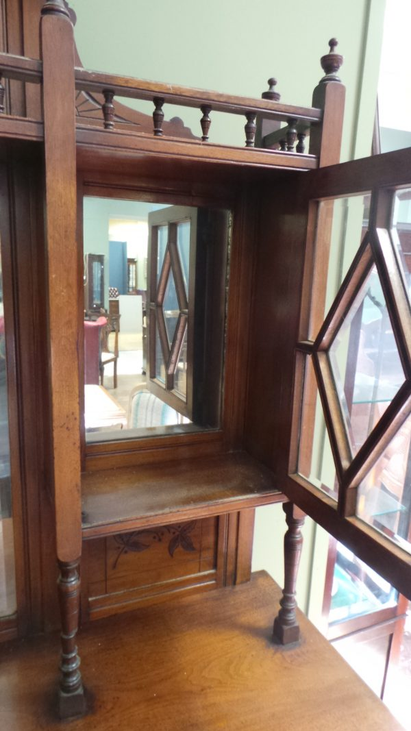 edwardian display cabinet, detail