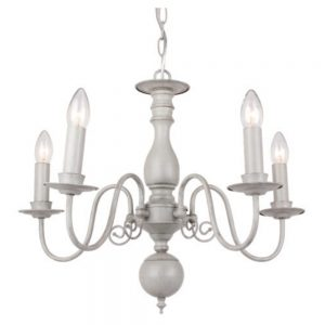 Flemish Chandelier in Grey with 5 Lights