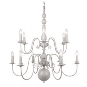 Flemish Grey Chandelier with 12 Lights