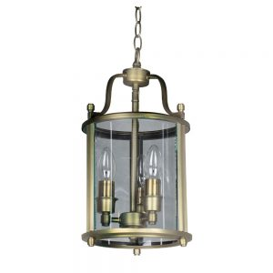 Hall Lantern with Antique Brass Finish