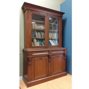 Victorian Two Door Mahogany Bookcase (Copy)