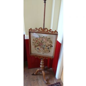 Victorian Mahogany Pole Screen