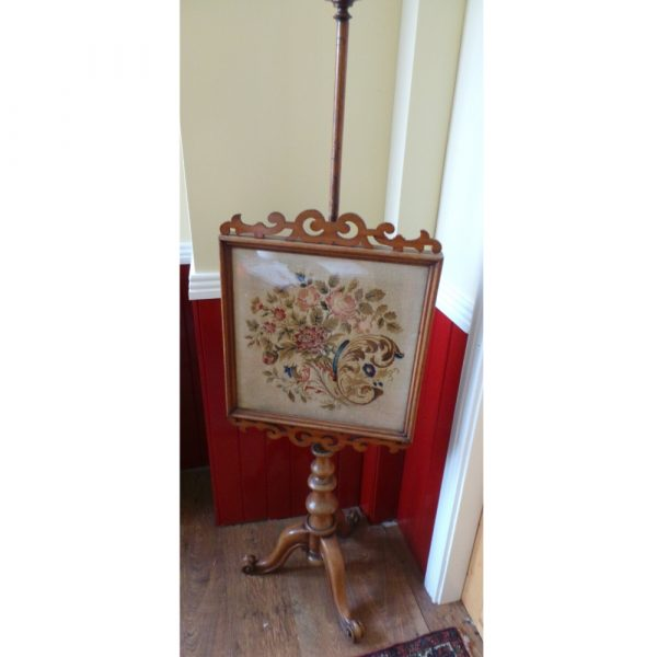 victorian pole screen, full view