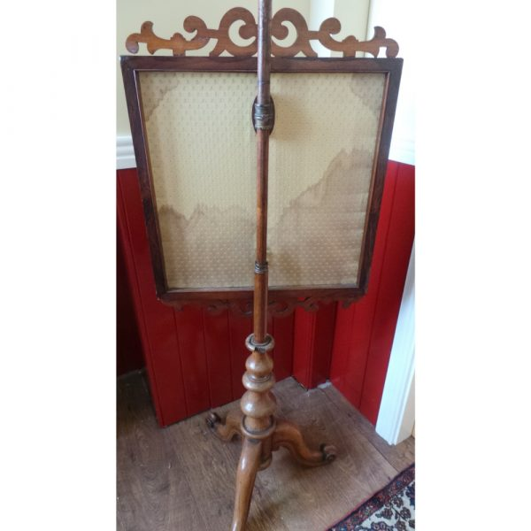 victorian pole screen, back