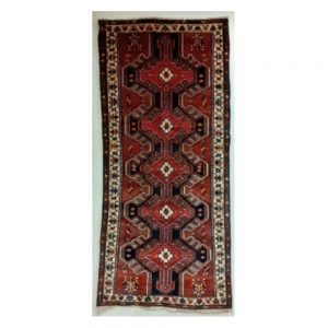 Large Red Ground Iranian Village Runner