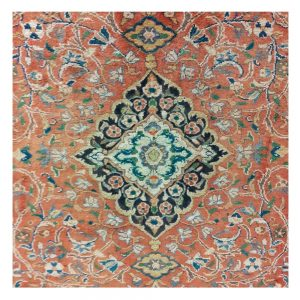 Washed Red Ground Full Pile Persian Rug