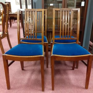 Set of 4 Edwardian Oak Dining Chairs