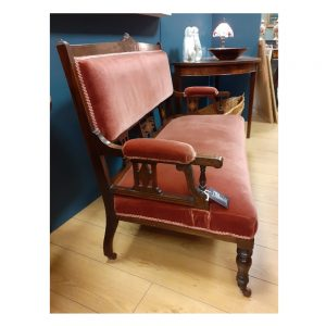 Edwardian Drawing Room Settee in Rosewood