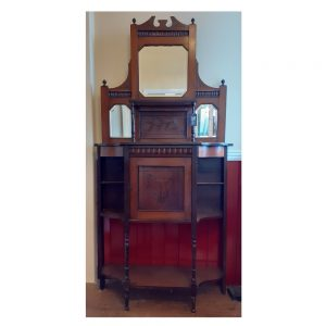 Edwardian Display Cabinet in Mahogany with Single Cupboard Door