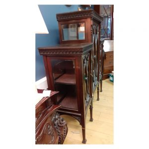 Edwardian Mahogany Display Cabinet with Three Doors
