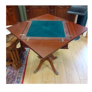Envelope Card Table in Mahogany