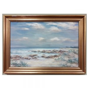 Oil on Canvas, Beach Scene