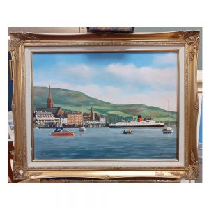 Oil on Canvas, Largs Pier, signed P.St.C. Merriman