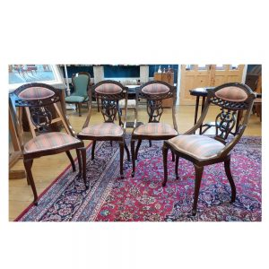 Set of 4 Edwardian Mahogany Dining Chairs