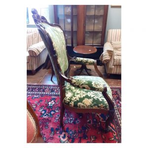 Victorian Mahogany Armchair with Cabriole Legs