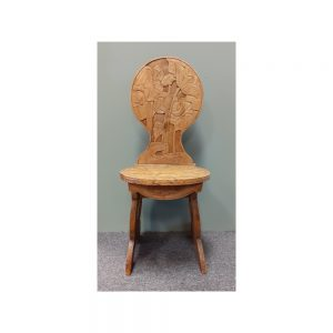 Floral Carved Hall Chair