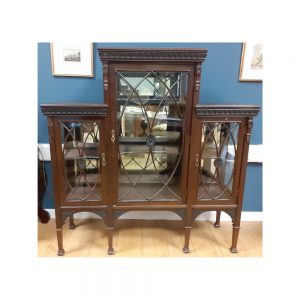 Mahogany 3 Door Display Cabinet