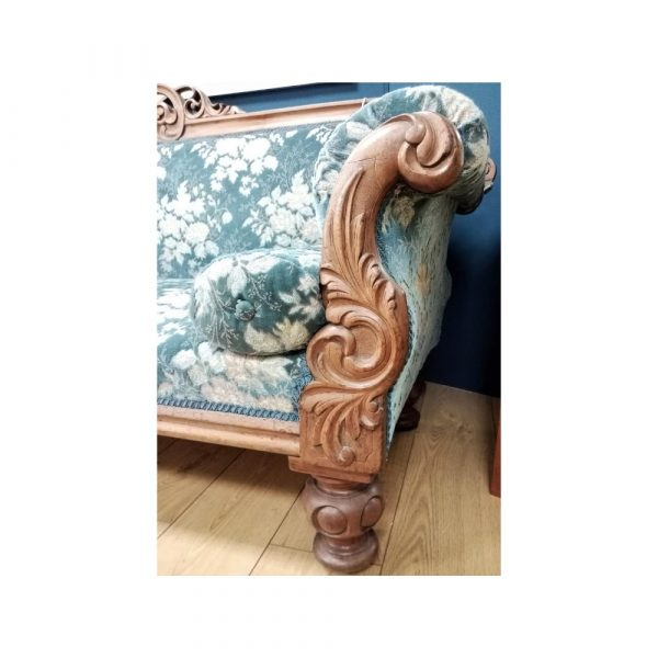 French style blue sofa