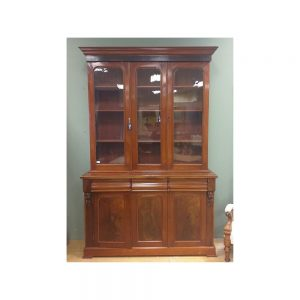 Victorian Mahogany 3 Door Glazed Bookcase