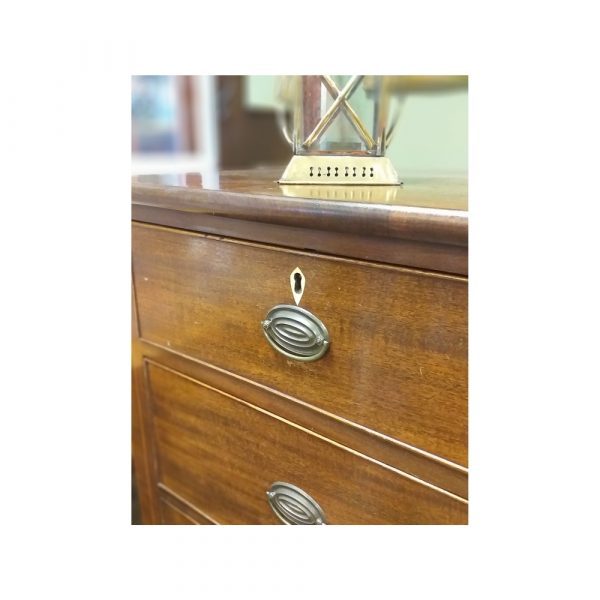 Victorian Mahogoany Chest of Drawers _ Ivory Escutcheons