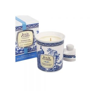 Julie Clarke- Peacock Candle Jar Jasmine & Honeysuckle
