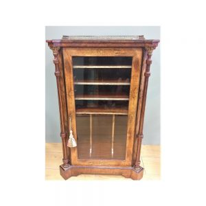 Antique Walnut & Ebonised Music Cabinet