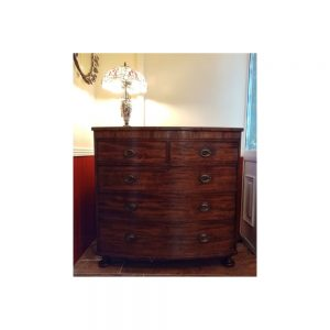 Victorian Mahogany 2 over 3 Bow Fronted  Chest of Drawers