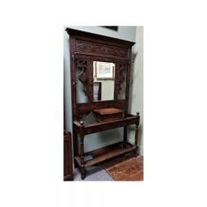 Carved Oak Hall Stand