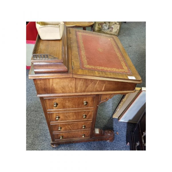 Leather topped davenport desk
