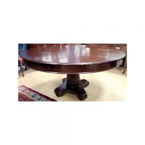 Round Table with Central Pod Leg