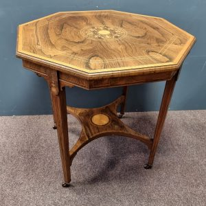 Rosewood Octagonal Inlaid Table